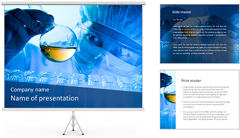 Lab Tube Modèles des présentations  PowerPoint
