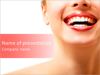 Perfect Smile Sjablonen PowerPoint presentatie