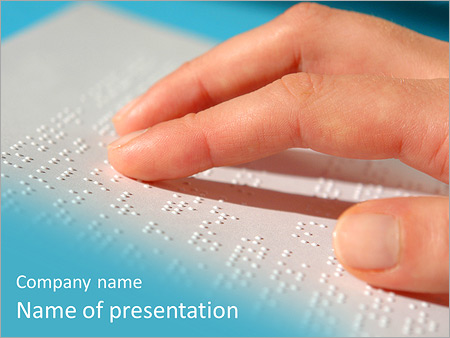 Blind reading powerpoint template backgrounds id 0000006696 blind reading powerpoint templates toneelgroepblik Images