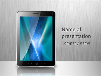 Portable Computer PowerPoint Template