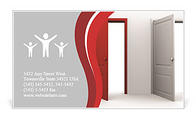 Red Door Business Card Template