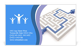 Way In Maze Business Card Template