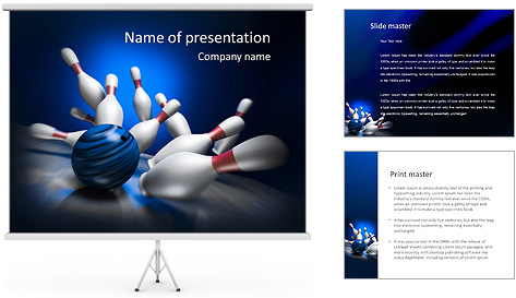 Bowling Win PowerPoint Template Backgrounds ID 0000006724 – Bowling Flyer Template