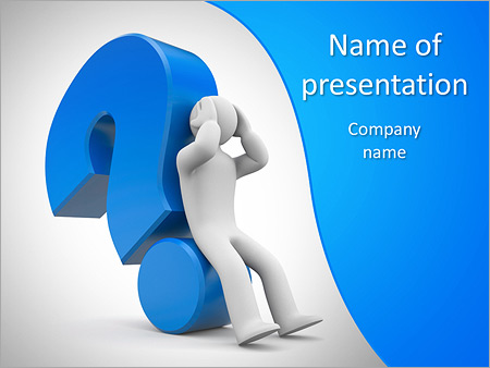 Business Question Powerpoint Template Backgrounds Google Slides