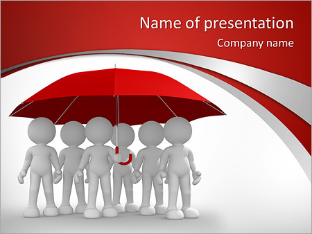 Umbrella powerpoint template smiletemplates team under umbrella powerpoint templates toneelgroepblik Images