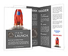 Red Speed Rocket Brochure Templates