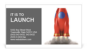 Red Speed Rocket Business Card Template