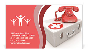 Call Ambulance Business Card Template