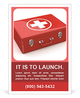 First aid kit ad template design id 0000006743 smiletemplates first aid kit ad template maxwellsz