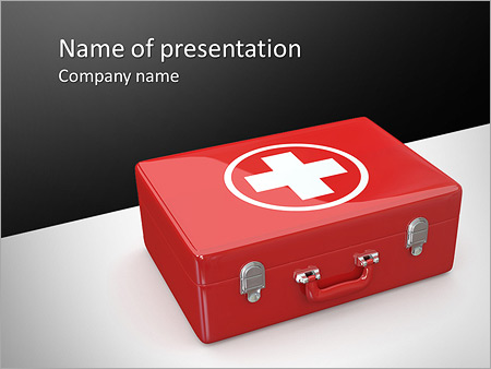 First Aid Kit Powerpoint Template Backgrounds Google Slides Id