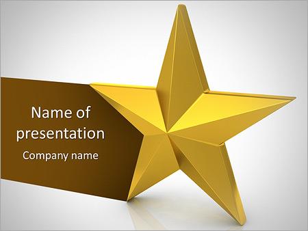 Golden Star Powerpoint Template Backgrounds Google Slides Id
