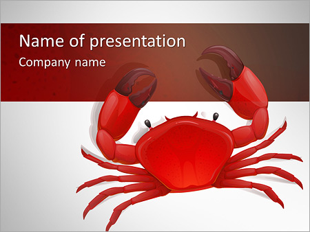Boiled crab powerpoint template backgrounds id 0000006749 boiled crab powerpoint templates toneelgroepblik Choice Image