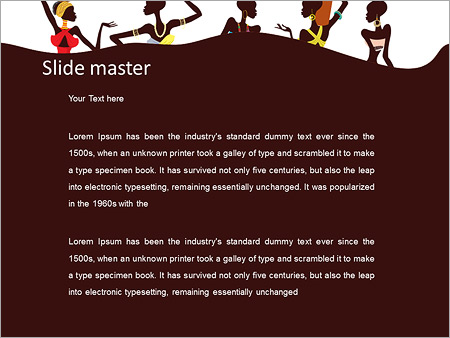 Beautiful African Women PowerPoint Template Backgrounds Google