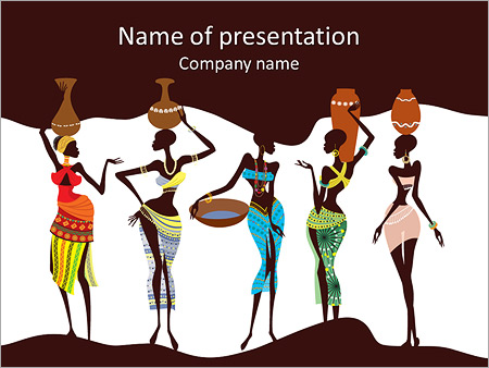 Indigenous powerpoint template smiletemplates beautiful african women powerpoint templates toneelgroepblik Image collections