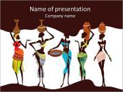 美丽的非洲女人 PowerPoint演示模板
