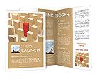 Red Column Brochure Templates