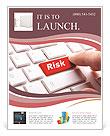 Press Risk Button Flyer Template
