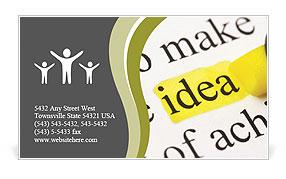 Business Ideas Business Card Template