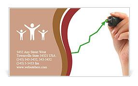 Green Diagram Arrow Business Card Template
