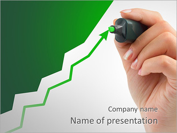 Green Diagram Arrow PowerPoint Template