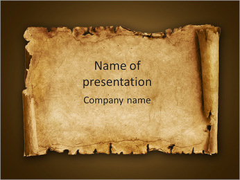 Old Papyrus PowerPoint Template