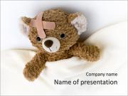 O urso de peluche doente Modelos de apresentações PowerPoint