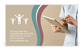 Medical Check List Business Card Template
