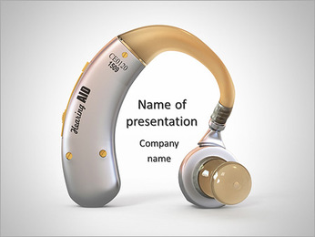 Hearing Device PowerPoint Template