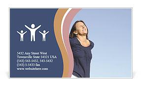 Backache Business Card Template