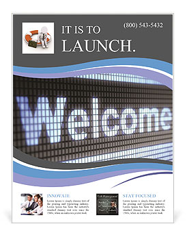 Welcome Flyer Template Design ID SmileTemplatescom - Welcome brochure template