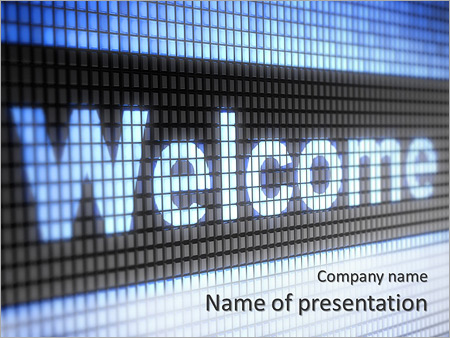 welcome powerpoint template smiletemplates com