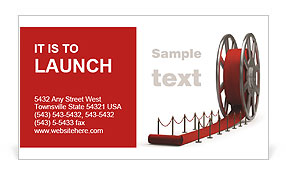 Red Curpet Business Card Template