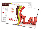 Construction Plan Postcard Template