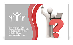 Top Question Business Card Template