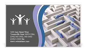 Lost In Labyrinth Business Card Template