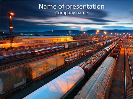 cargo train powerpoint template backgrounds google slides id