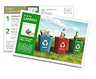Collect Waste Products Postcard Template