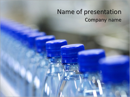 bottle of water powerpoint template & backgrounds id 0000006825, Modern powerpoint