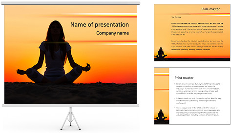 meditation powerpoint template backgrounds id 0000006831