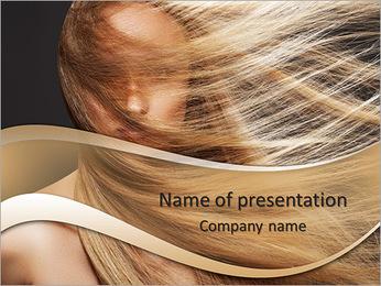Long Hair PowerPoint Template