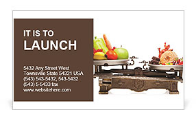 Healthy Against Fast Food Business Card Template