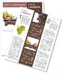 Healthy Against Fast Food Newsletter Template