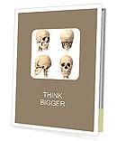 Skull Of Human Presentation Folder