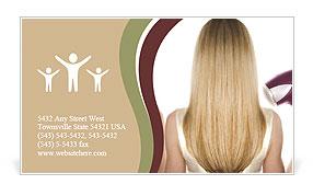 Dry Hair Business Card Template
