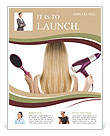Dry Hair Flyer Templates
