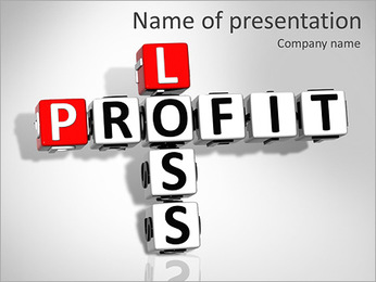 Loss Or Profit PowerPoint Template