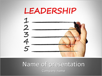 Leadership Definition PowerPoint Template