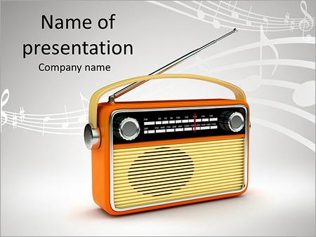Radio powerpoint template smiletemplates retro radio powerpoint template toneelgroepblik Choice Image