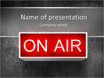 On Air PowerPoint Template