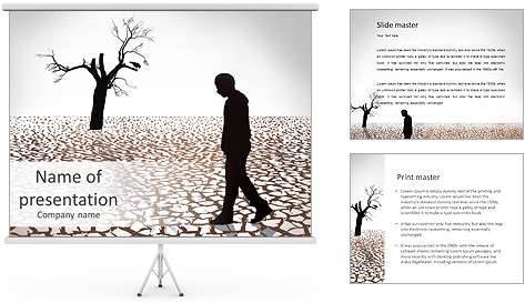 Depression PowerPoint Template & Backgrounds ID 0000006885 ...
